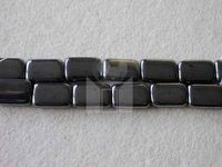Czech Pressed Glass Smooth Rectangle Bead 15x10mm, Hematite (Pkg of 300 Pieces)
