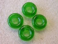 Czech Glass Cheerio Ring Bead 9mm, Emerald Green (Pkg of 300 Pieces)