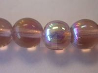 Czech Pressed Glass Smooth Round Druk Bead 8mm, Light Amethyst AB Coated (Pkg of 300 Pieces)
