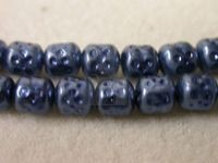 Czech Glass Barrel Pearl Bead 6mm, Iris Blue (Pkg of 300 Pieces)