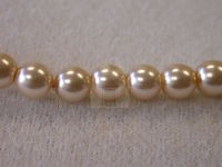 Czech Glass Smooth Round Pearl Bead 6mm, Light Pink (Pkg of 300 Pieces)