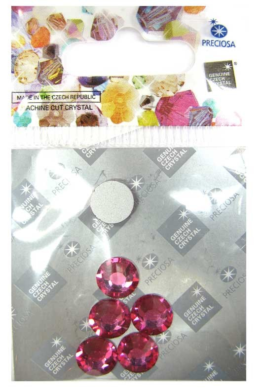 Preciosa Czech Crystal Viva 12 Glue-on Rhinestone Flatback, Rose ss40