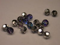 Preciosa Czech Round Crystal Bead 4mm, Crystal Bermuda Blue