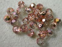 Preciosa Czech Round Crystal Bead 4mm, Capre Gold