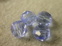 Preciosa Czech Round Crystal Bead 7mm, Light Sapphire