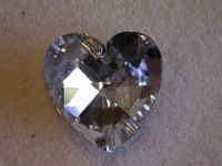 Crystal Heart Pendant crystal silver