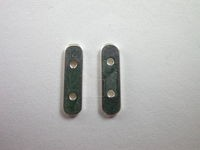 2 Strand Flat Spacer Bar Brass with Sterling Silver coat
