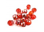 Czech Pressed Glass 12mm Roller Bead, 5mm Hole, Hyacinth Peacock Coated (Pkg of 150 Pieces)