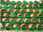 Czech Round 3 Cut Bead 8mm, Zircon Bronze (Pkg of 300 Pieces)