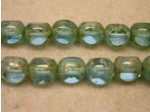 Czech Round 3 Cut Bead 8mm, Aqua Marble