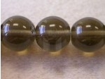 Czech Pressed Glass Smooth Round Druk Bead 12mm, Black Diamond (Pkg of 300 Pieces)