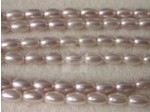 Czech Glass Oval Pearl Bead 6x4mm, Pale Lilac (Pkg of 300 Pieces)