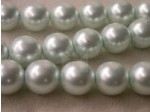 Czech Glass Smooth Round Pearl Bead 12mm, Ice Blue (Pkg of 300 Pieces)