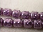 Czech Glass Barrel Pearl Bead 6mm, Lavender (Pkg of 300 Pieces)