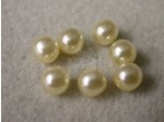 Czech Glass Half Drilled Pearl Bead 6mm, Cream (Pkg of 300 Pieces)
