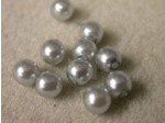 Czech Glass Half Drilled Pearl Bead 6mm, Silver (Pkg of 300 Pieces)