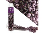 Czech Seed Bead Rocaille Purple Mix 8.5g