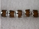 Czech Glass Fire Polished Antique Beveled Cathedral Bead 6mm, Smoked Topaz Silver, (Pkg of 300 Pieces)