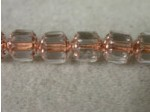 Czech Glass Fire Polished Antique Cathedral Bead 8mm, Clear Copper Lined, (Pkg of 300 Pieces)