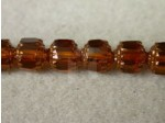 Czech Glass Fire Polished Antique Cathedral Bead 8mm, Topaz 1, (Pkg of 300 Pieces)