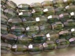 Czech Glass Fire Polished Barrel Bead 7x5mm, Lumi Green, (Pkg of 300 Pieces)