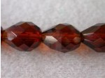 Czech Glass Fire Polished Drop Bead 13x10mm, Dark Topaz, (Pkg of 300 Pieces)
