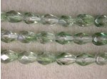 Czech Glass Fire Polished Drop Bead 7x5mm, Mint Clear Lumi, (Pkg of 300 Pieces)