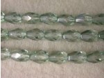 Czech Glass Fire Polished Drop Bead 7x5mm, Mint Lumi, (Pkg of 300 Pieces)