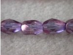 Czech Glass Fire Polished Drop Bead 7x5mm, Lilac Lumi, (Pkg of 300 Pieces)