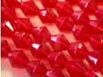 Czech Glass Fire Polished Mushroom Bead 10mm, Ruby Red, (Pkg of 300 Pieces)