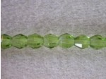 Czech Glass Fire Polished Mushroom Bead 4mm, Olivine, (Pkg of 600 Pieces)