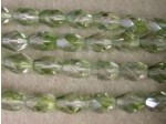 Czech Glass Fire Polished Oval Bead 7x5mm, Clear Mint, (Pkg of 300 Pieces)