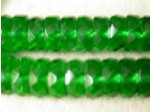 Czech Glass Fire Polished Rondel Spacer Bead 10x4mm, Emerald, (Pkg of 300 Pieces)