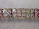 Czech Glass Fire Polished Rondel Spacer Bead 6x3mm,  Clear Crystal Monet, (Pkg of 300 Pieces)