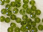 Preciosa Czech Crystal Bellatrix Bead 6mm, Olive Green