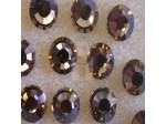 Preciosa Czech Crystal Viva 12 Glue-on Rhinestone Flatback, Smokey Topaz ss40, (144 Pieces Per Pack)