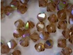 Preciosa Czech Crsytal Bicone Bead 4mm, Light Colorado Topaz AB