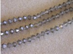 "Preciosa Czech Crystal Bicone Bead, 6mm Black Diamond 7"" Strand of 31 Beads"