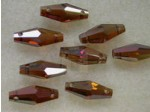 Preciosa Czech Crystal 2Hole Oat Bead 6x15mm, Venus