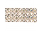 Czech Rhinestone Metal Banding, 4-Row Crystal AB in Silver Setting, ss19