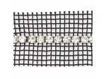 Czech Rhinestone Band, 1-Row Crystal on Black Net 2 Sides, ss19