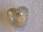 Crystal Heart Hint of Topaz