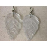 Clear Leaf pendant