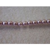 Czech Glass Smooth Round Pearl Bead 3mm, Lilac (Pkg of 600 Pieces)