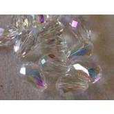 Preciosa Czech Crystal pear Bead 13.5x9mm, Crystal AB