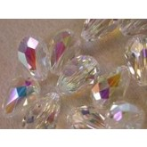 Preciosa Czech Crystal Pear Bead 15x10mm,Crystal AB