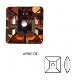 Preciosa Czech Crystal Sew-on Square, Apricot 8x8mm Pkg. of 1