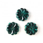 Czech Rhinestone Crystal Sew-on Flower 10mm, Emerald