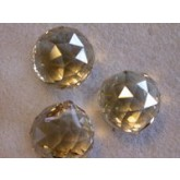 Czech Crystal 120 Faceted Ball 15mm Hint of topaz