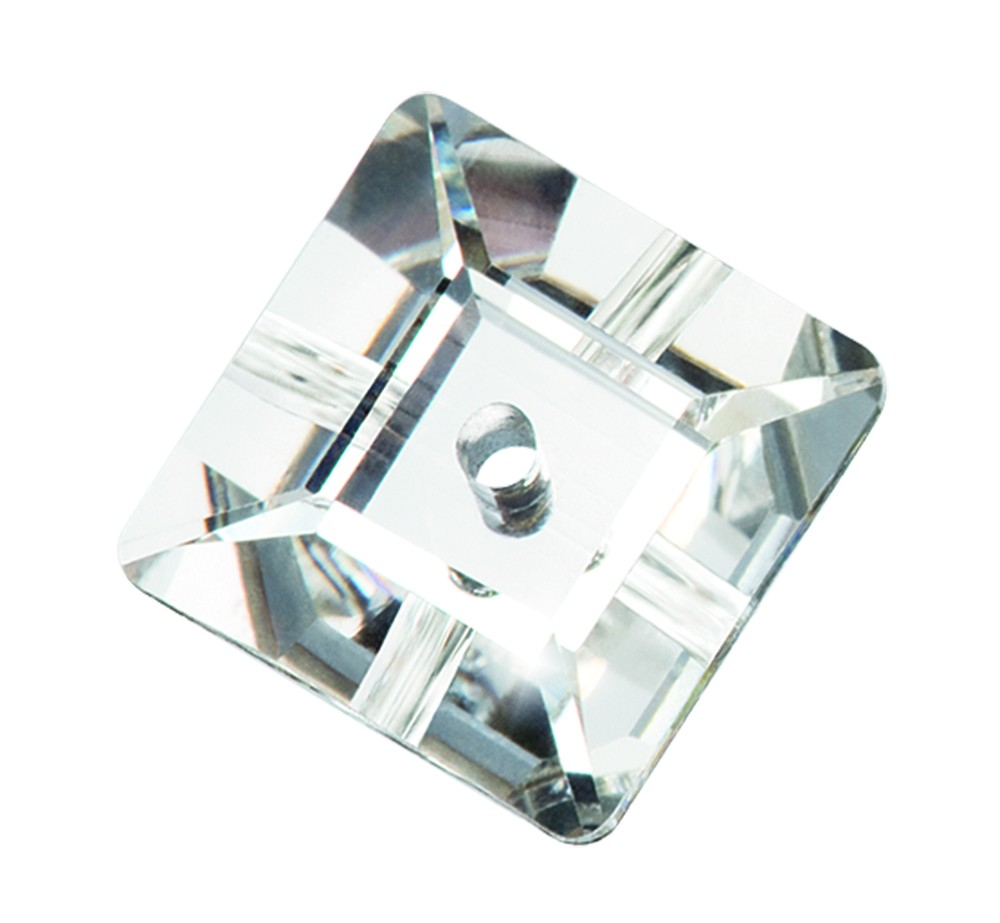 8x8mm Preciosa Crystal Sew On Square, Crystal